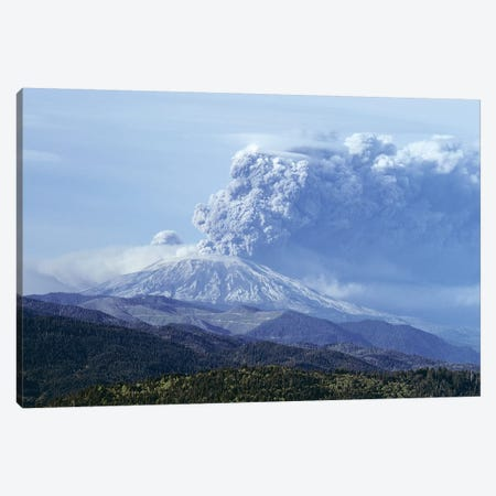 1980s Volcano Mount Saint Helens Erupting May 18, 1980 Washington USA Canvas Print #VTG606} by Vintage Images Art Print