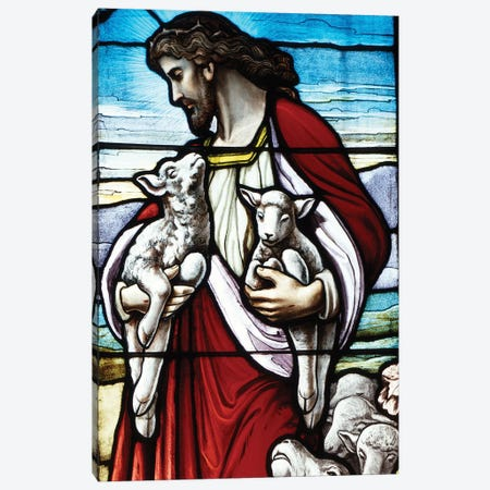 Christ The Good Shepherd With His Flock 3-Piece Canvas #VTG618} by Vintage Images Canvas Print