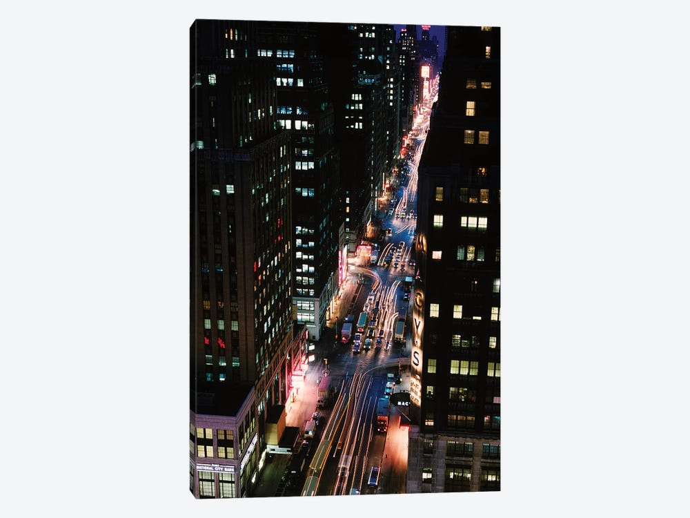 City Traffic At Night by Vintage Images 1-piece Canvas Art