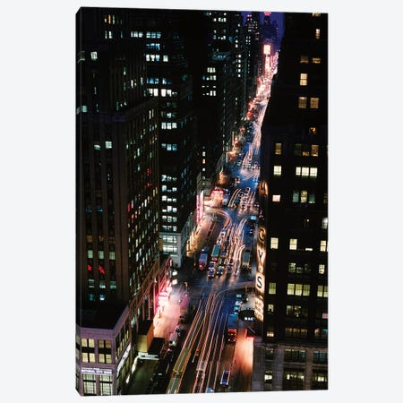 City Traffic At Night 3-Piece Canvas #VTG619} by Vintage Images Canvas Art Print
