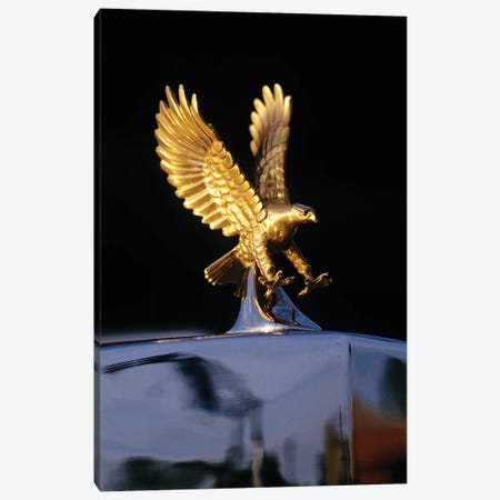 Close-Up Detail Of Golden Attacking Eagle Replica Radiator Cap Hood Ornament Canvas Print #VTG620} by Vintage Images Canvas Art