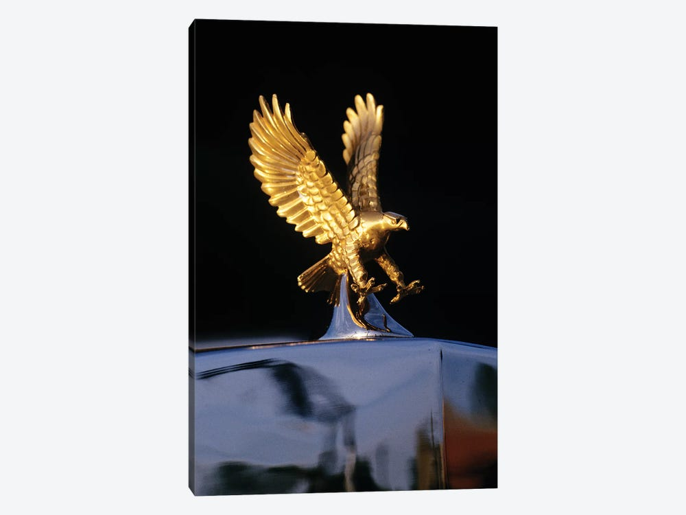 Close-Up Detail Of Golden Attacking Eagle Replica Radiator Cap Hood Ornament by Vintage Images 1-piece Canvas Art