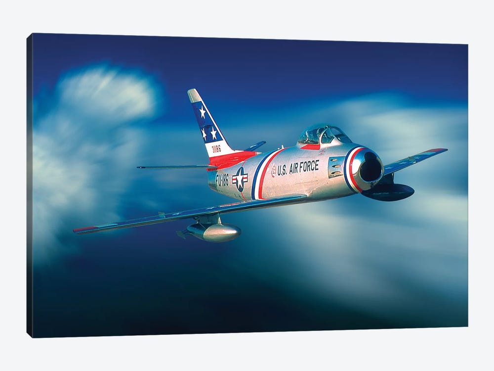 North American F B6 Sabre 1950s Korean War Vintage Jet 1-piece Art Print