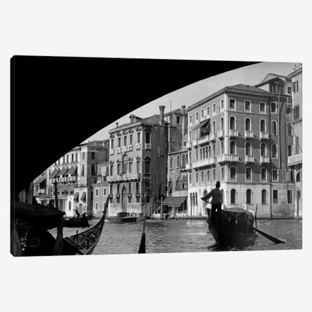 1920s-1930s Gondola Beneath Rialto Bridge Grand Canal Venice Italy Canvas Print #VTG64} by Vintage Images Art Print
