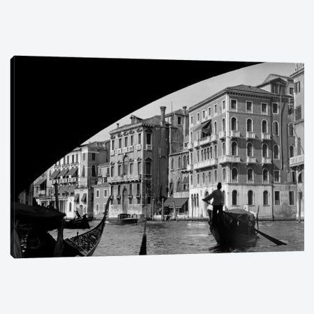 1920s-1930s Gondola Beneath Rialto Bridge Grand Canal Venice Italy Canvas Print #VTG64} by Vintage Images Art Print