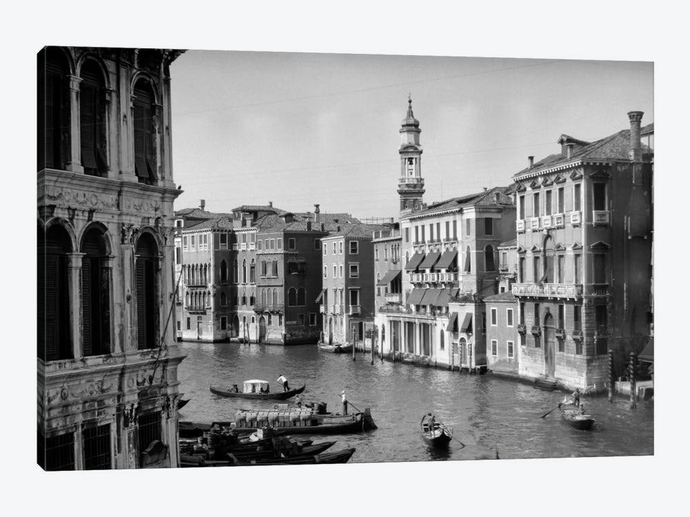 1920s-1930s Grand Canal From Rialto Bridge Venice Italy by Vintage Images 1-piece Art Print