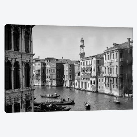 1920s-1930s Grand Canal From Rialto Bridge Venice Italy Canvas Print #VTG65} by Vintage Images Canvas Print