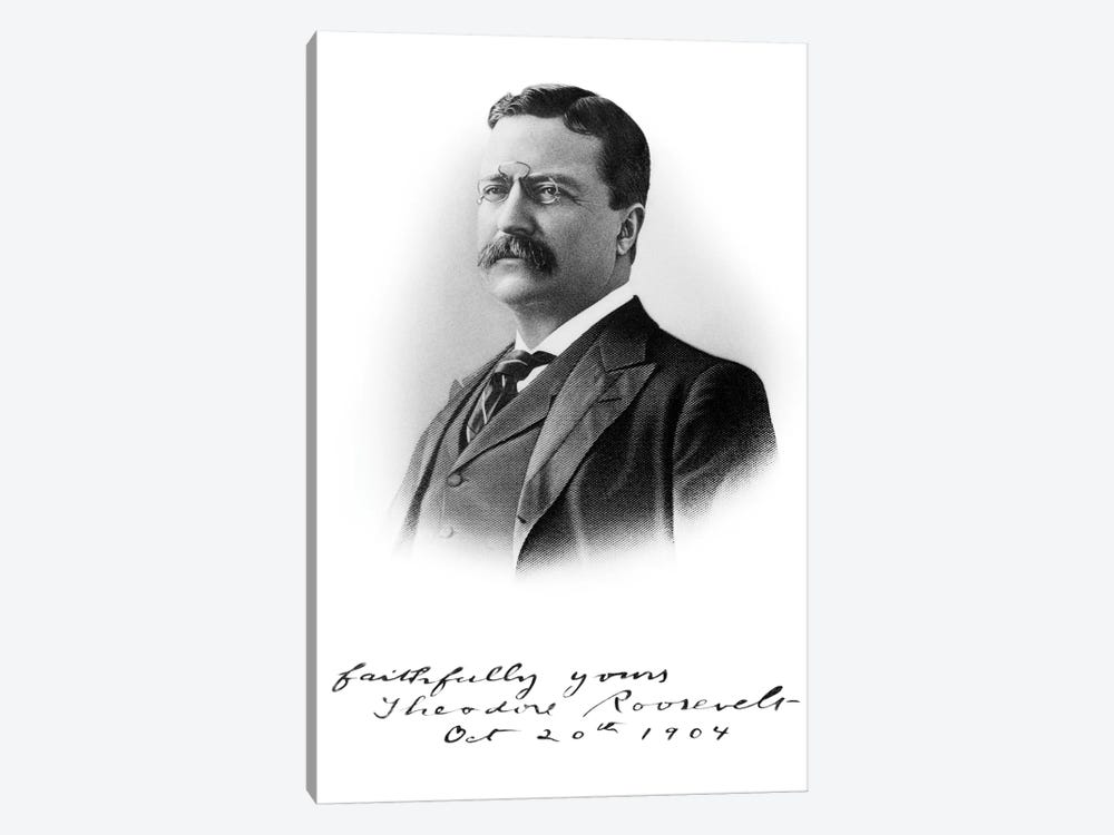 1900s Portrait Theodore Roosevelt The 26Th President Of The United States Here About 46 Years Old October 20 1904 by Vintage Images 1-piece Art Print