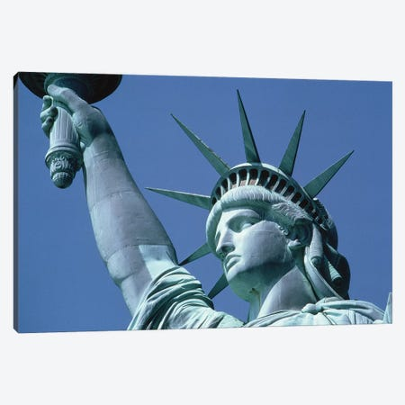 1980s Statue Of Liberty New York City NY USA Canvas Print #VTG704} by Vintage Images Canvas Wall Art