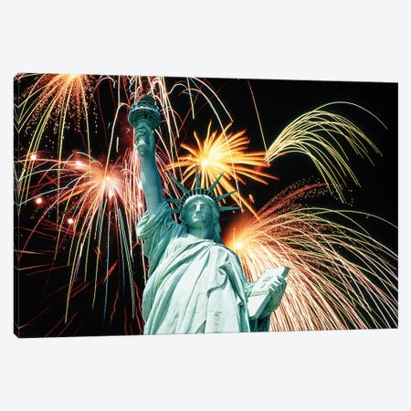 Statue Of Liberty New York NY USA Canvas Print #VTG719} by Vintage Images Canvas Wall Art