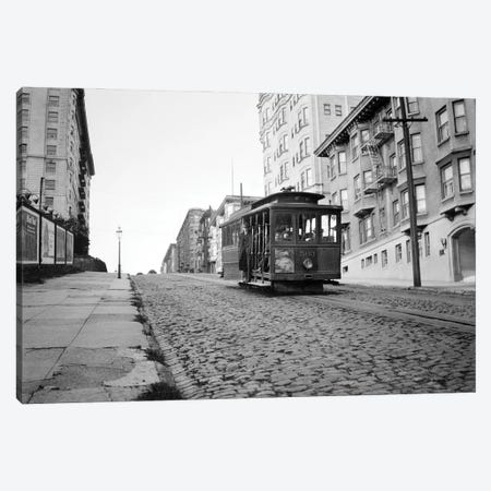 1910s San Francisco Cable Car Going Up Hill On Brick Road California USA Canvas Print #VTG732} by Vintage Images Canvas Art