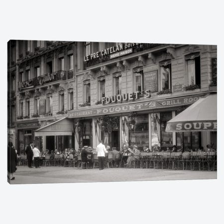 1920s 1930s Fouquet'S Restaurant Cafe Corner Champs Elysees And George V Paris France Canvas Print #VTG735} by Vintage Images Canvas Print