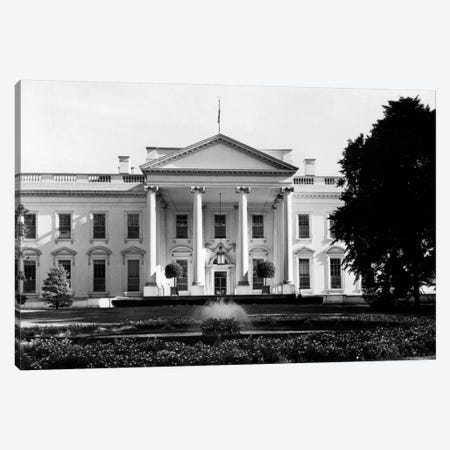 1920s-1930s The White House Washington Dc USA Canvas Print #VTG75} by Vintage Images Canvas Artwork