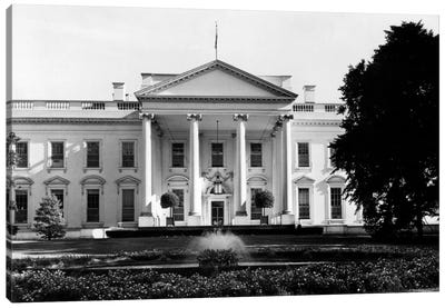 1920s-1930s The White House Washington Dc USA Canvas Art Print