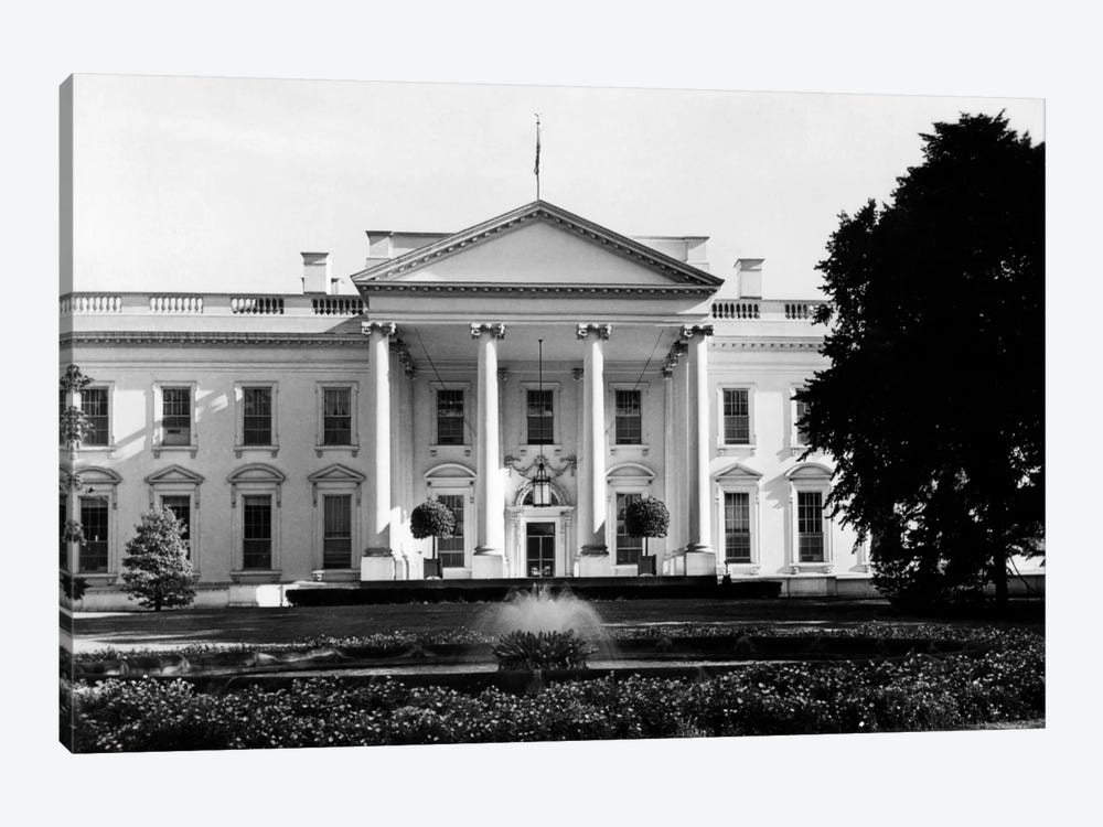 1920s-1930s The White House Washington Dc USA by Vintage Images 1-piece Canvas Wall Art