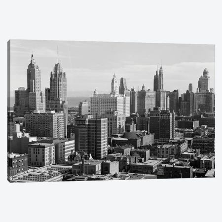1940s 1950s The Loop Downtown Skyline Chicago Illinois USA Canvas Print #VTG769} by Vintage Images Art Print
