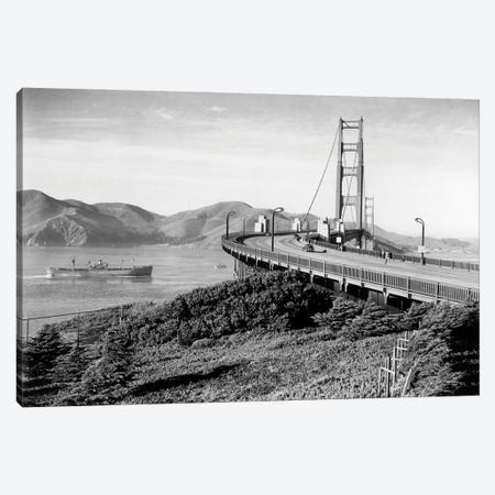 1940s Golden Gate Bridge From The San Francisco Side Looking To Marin County California USA Canvas Print #VTG771} by Vintage Images Canvas Art