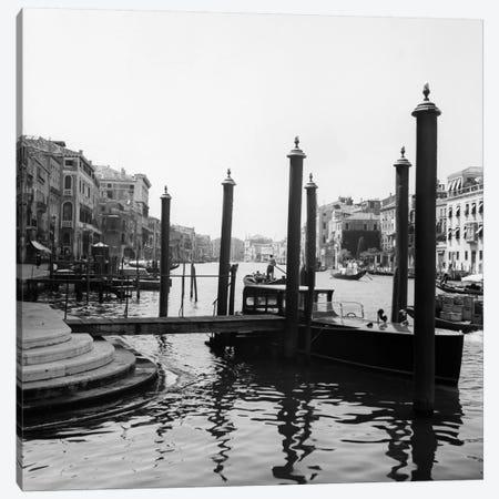 1920s-1930s Venice Italy Gondolas Along Grand Canal Canvas Print #VTG78} by Vintage Images Canvas Art Print