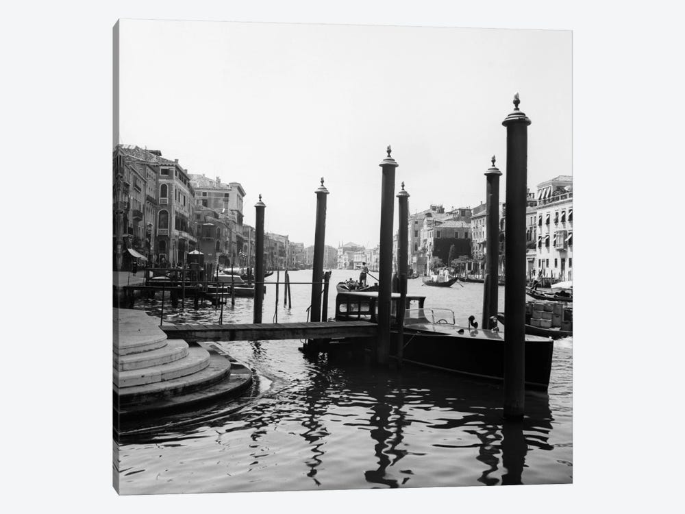 1920s-1930s Venice Italy Gondolas Along Grand Canal by Vintage Images 1-piece Canvas Print