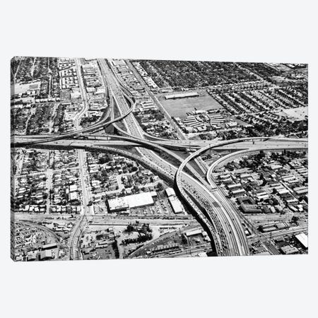 1960s 1970s Junction Of Interstate Us10 And Us405 The 405 And The Santa Monica Freeway In Los Angeles California USA Canvas Print #VTG810} by Vintage Images Canvas Print