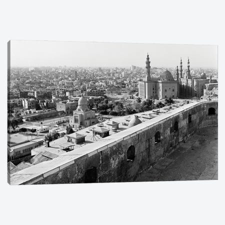 1960s 1970s View Of City And Mohammed Ali Mosque From The Citadel Cairo Egypt Canvas Print #VTG811} by Vintage Images Canvas Print