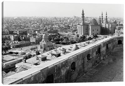 1960s 1970s View Of City And Mohammed Ali Mosque From The Citadel Cairo Egypt Canvas Art Print