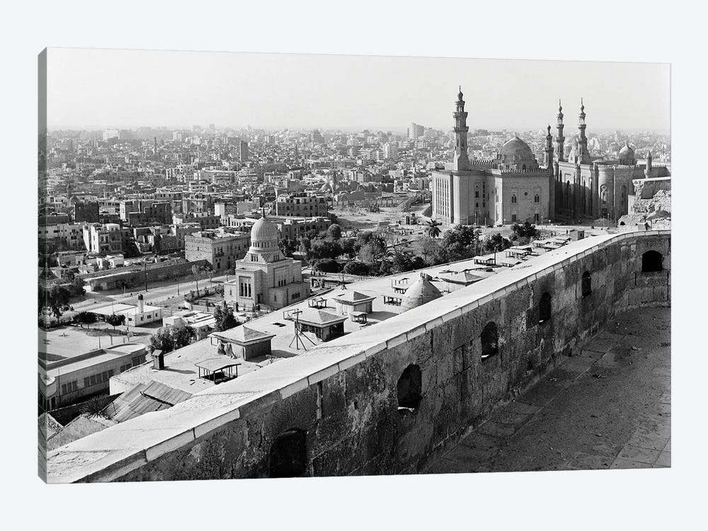 1960s 1970s View Of City And Mohammed Ali Mosque From The Citadel Cairo Egypt by Vintage Images 1-piece Canvas Print