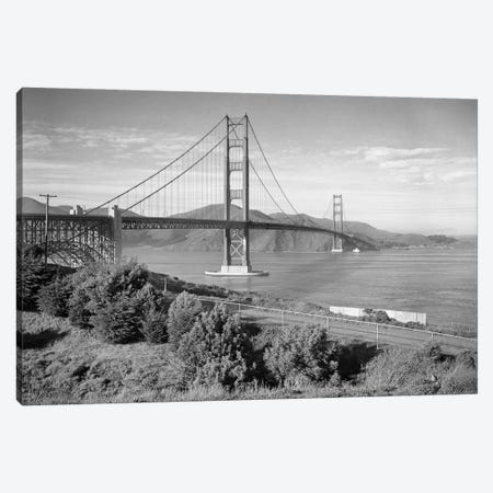 1960s Golden Gate Bridge Seen From San Francisco Ca USA Canvas Print #VTG818} by Vintage Images Canvas Art Print
