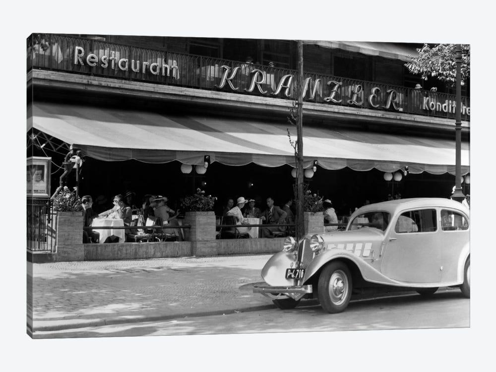 1930s Cafe Kranzler Kurfurstendamm Strasse Street Berlin Germany by Vintage Images 1-piece Canvas Art Print