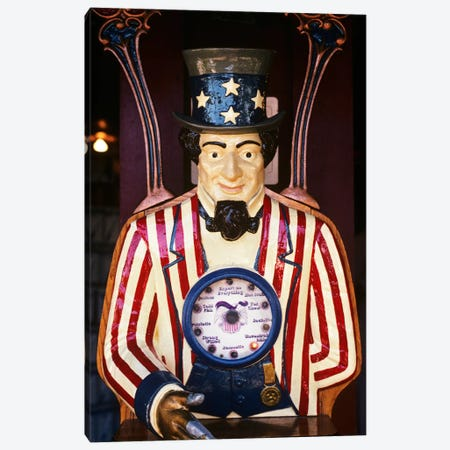 1890s-1900s-1910s Folk Art Uncle Sam Amusement Arcade Personality Game Machine Canvas Print #VTG8} by Vintage Images Canvas Art Print