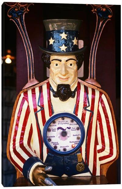 1890s-1900s-1910s Folk Art Uncle Sam Amusement Arcade Personality Game Machine Canvas Art Print
