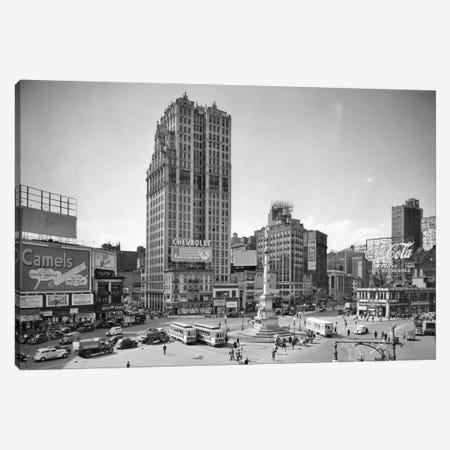 1930s Columbus Circle With Coca Cola Sign And Trolley Cars New York City USA Canvas Print #VTG93} by Vintage Images Canvas Print