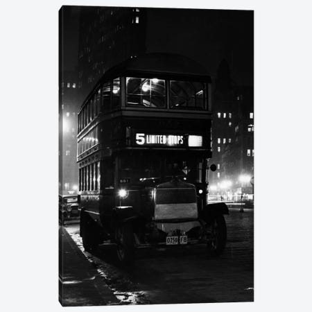 1930s Double Decker 5Th Avenue Bus At Night Near Flatiron Building New York City USA Canvas Print #VTG97} by Vintage Images Canvas Art