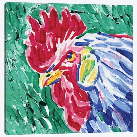 Colorful Rooster Head Canvas Print #VTK104} by Vitali Komarov Canvas Wall Art