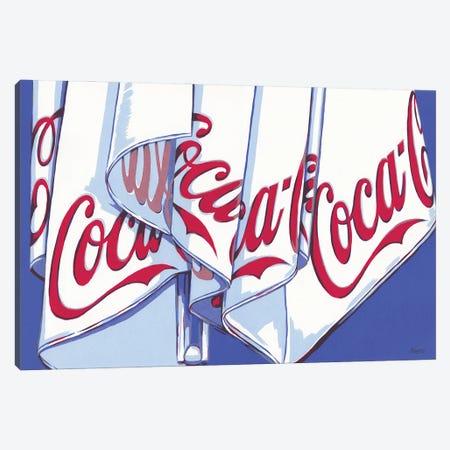 Coca-Cola Parasol Canvas Print #VTK107} by Vitali Komarov Canvas Artwork