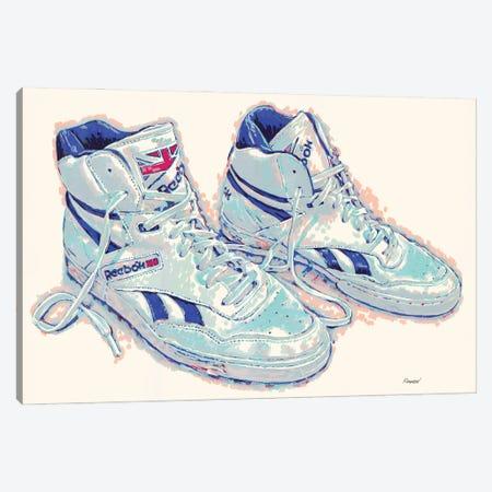 Old Reebok Shoes Canvas Print #VTK109} by Vitali Komarov Art Print