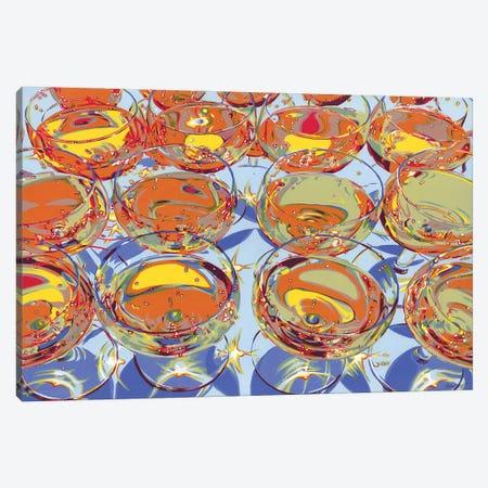 Glasses With Champagne Canvas Print #VTK111} by Vitali Komarov Canvas Art