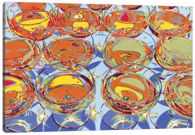 Glasses With Champagne Canvas Art Print