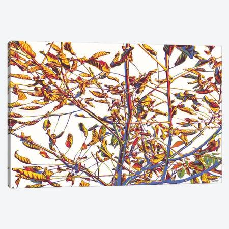 Gold Autumn Tree Canvas Print #VTK113} by Vitali Komarov Canvas Artwork