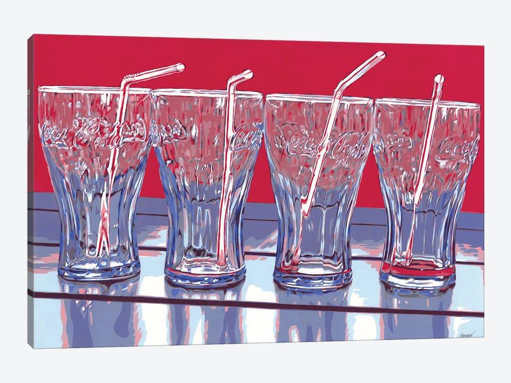 Coca-Cola Glasses by Vitali Komarov 1-piece Canvas Art