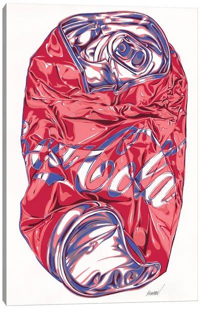 Crashed Coca-Cola Can Canvas Art Print