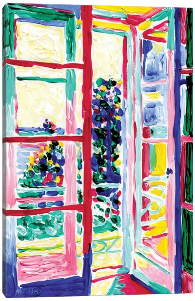 View From The Balcony Canvas Art Print