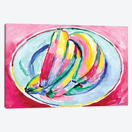 Bananas On A Plate Canvas Print #VTK140} by Vitali Komarov Art Print