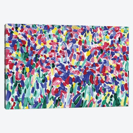 Iris Flowers Bed Canvas Print #VTK147} by Vitali Komarov Canvas Wall Art