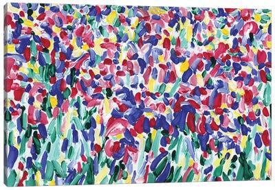 Iris Flowers Bed Canvas Art Print
