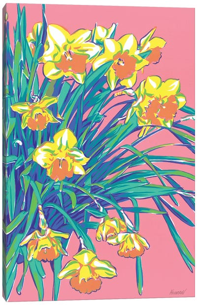 Daffodil Flowers Canvas Art Print