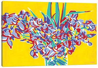 Iris Flowers Bouquet Canvas Art Print