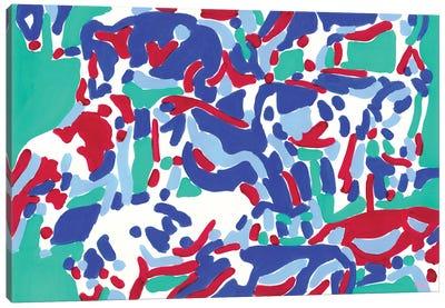 Abstract Cows Canvas Art Print
