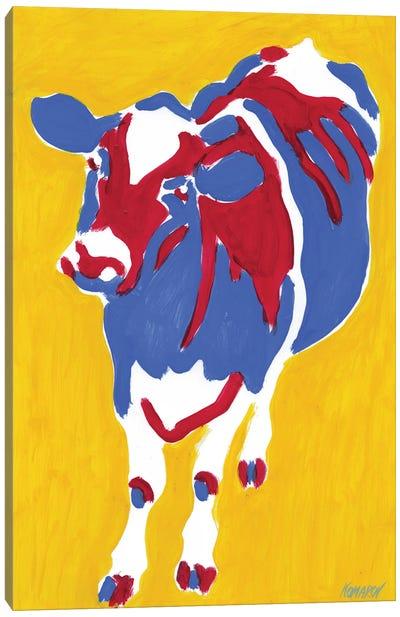Curious Cow Canvas Art Print