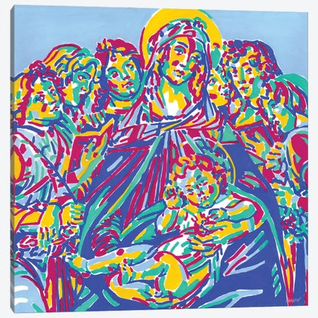 Madonna Of The Pomegranate Canvas Print #VTK168} by Vitali Komarov Art Print